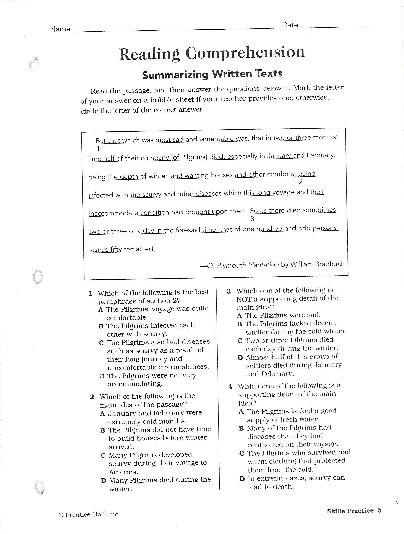Worksheet Elementary Reading Comprehension Test worksheet elementary reading comprehension test mikyu free canyon high school standardized testing star schedule comprehension