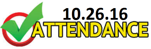 attendance for 10.26.2016