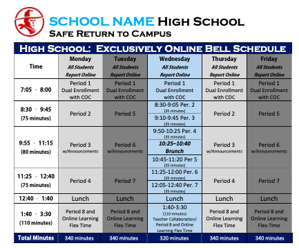 Updated Online Schedule